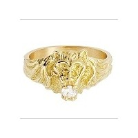 Bague TETE de LION en OR