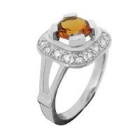 Bague en OR avec pierre fine et Diamant