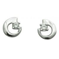 Boucles d'oreilles en OR et OXYDE DE ZIRCONIUM