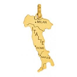 Pendent carte d'ITALIE en OR
