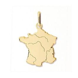 Pendentif carte de FRANCE en OR
