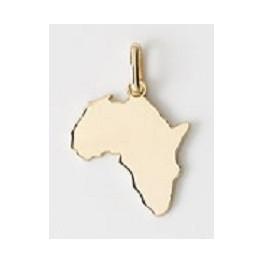 Pendentif carte de l'AFRIQUE en OR