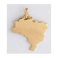 Pendentif carte du BRESIL en OR