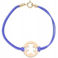 Bracelet OURSON en OR avec Cordon
