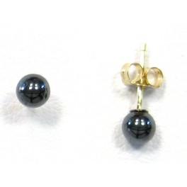 Boucles d'oreilles en perles noires