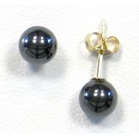 Boucles d'oreilles perles noires