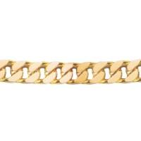 Bracelet en OR maille GOURMETTE