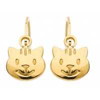 Boucles d'oreilles CHAT en OR