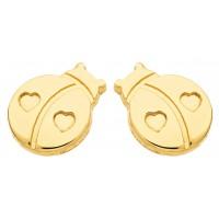 Boucles d'oreilles COCCINELLE en OR