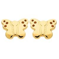 Boucles d'oreilles PAPILLON en OR