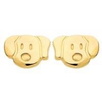 Boucles d'oreilles CHIEN en OR