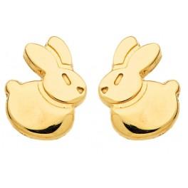 Boucles d'oreilles LAPIN en OR