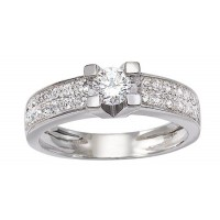 Bague Solitaire en OR et DIAMANTS