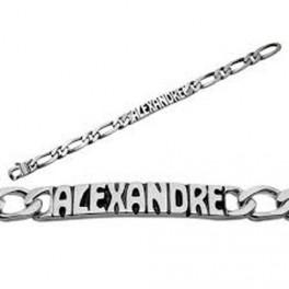 Bracelet identité à graver maille GOURMETTE en ARGENT