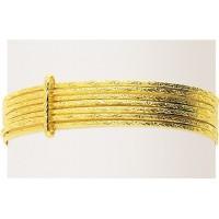 Bracelet Jonc Oriental SEMAINIER rigide en OR