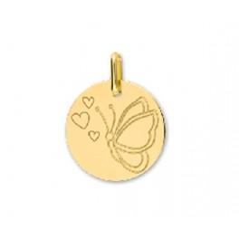 Médaille en OR motif PAPILLON