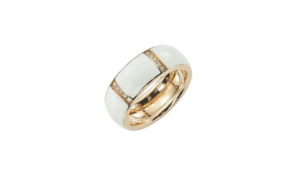 Bague c ramique en or et diamants bijouterie or et fa on - Bague en ceramique ...