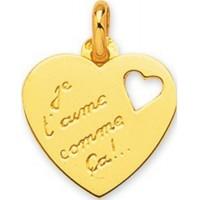 "Pendentif Coeur ""Je t'aime"" en OR"