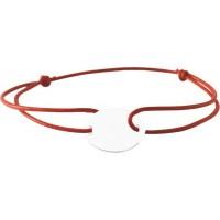 Bracelet Cordon avec plaque en Argent