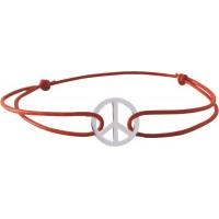 Bracelet Cordon avec motif en Argent