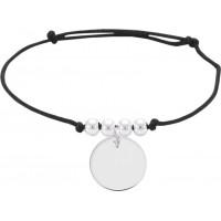 Bracelet Cordon avec breloque en Argent