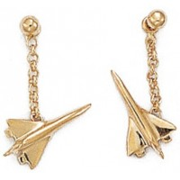 "Boucles d'oreilles Avion ""Concorde"" en OR"