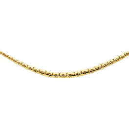 """Collier maille Haricot """"Chute"""" en OR"""