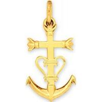 Pendentif Croix Camarguaise en OR