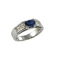 Bague Saphir et Diamants en OR