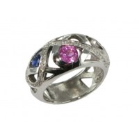 Bague Saphirs et Diamants en OR