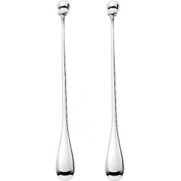 Boucles d'oreilles pendantes Goutte d'eau en Argent Massif Rhodié