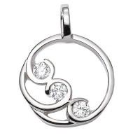 Pendentif Diamants Trilogie en OR