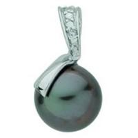 Pendentif en OR avec Perle de Tahiti et Diamants