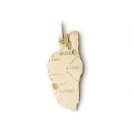 Pendentif carte de Corse en OR