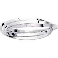 Bracelet Jonc en Argent 3 anneaux Fil Plat