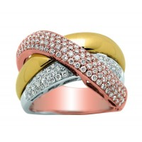Bague 3 ORS et Diamants