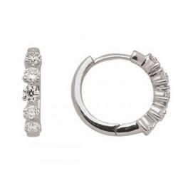 Créoles en OR Blanc et Diamants