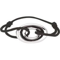 Bracelet cordon avec motif Ovale en Argent