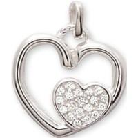 Pendentif Coeur en Argent et Oxydes de Zirconium