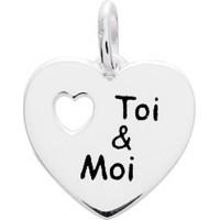 """Pendentif Coeur """"Toi & Moi"""" en Argent Massif"""