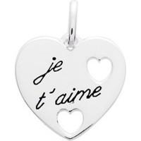 """Pendentif Coeur """"Je t'aime"""" en Argent"""