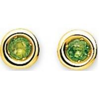 Boucles d'oreilles Puces en OR et Pierres Précieuses de couleur