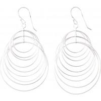 Boucles d'oreilles Pendantes motifs Ronds en Argent
