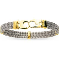 Bracelet câble en ACIER et OR