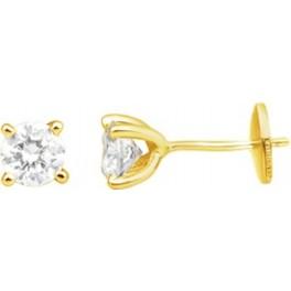 Boucles d'Oreilles Puces en OR et Diamants