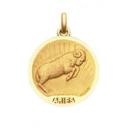 Pendentif Médaille Becker signe astrologique en OR