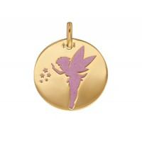 Pendentif médaille Fée en OR