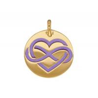 Pendentif Coeur et signe Infini en OR