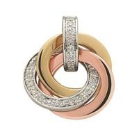 Boucles d'Oreilles 3 ORS et Diamants