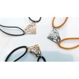 """Bracelet cordon motif """"Tête de Lion Diamant"""""""